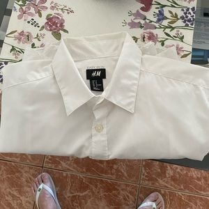 H&M shirt all white long sleeve